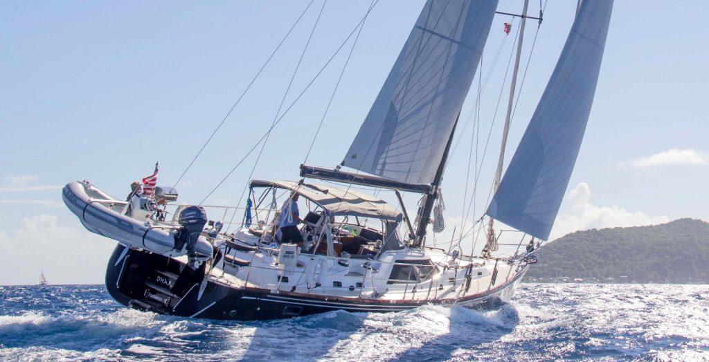 Hylas 56 downwind sailing