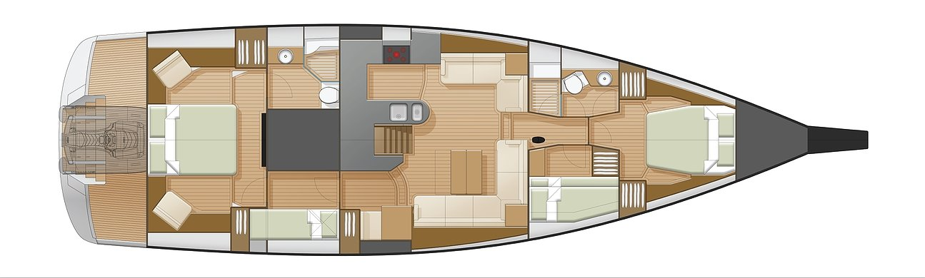 Hylas 57 interior layout