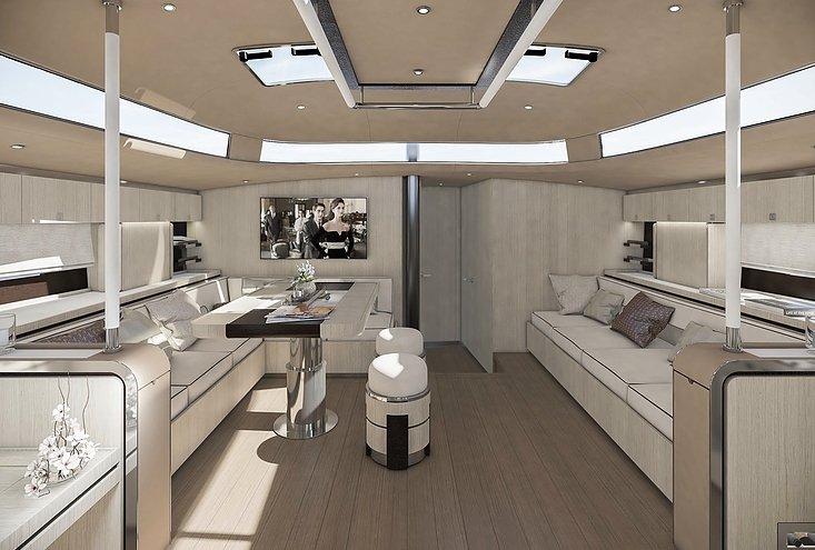 Hylas 60 Oak interior