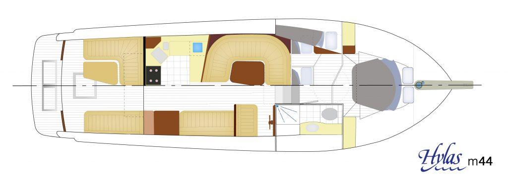 Hylas M44 interior layout