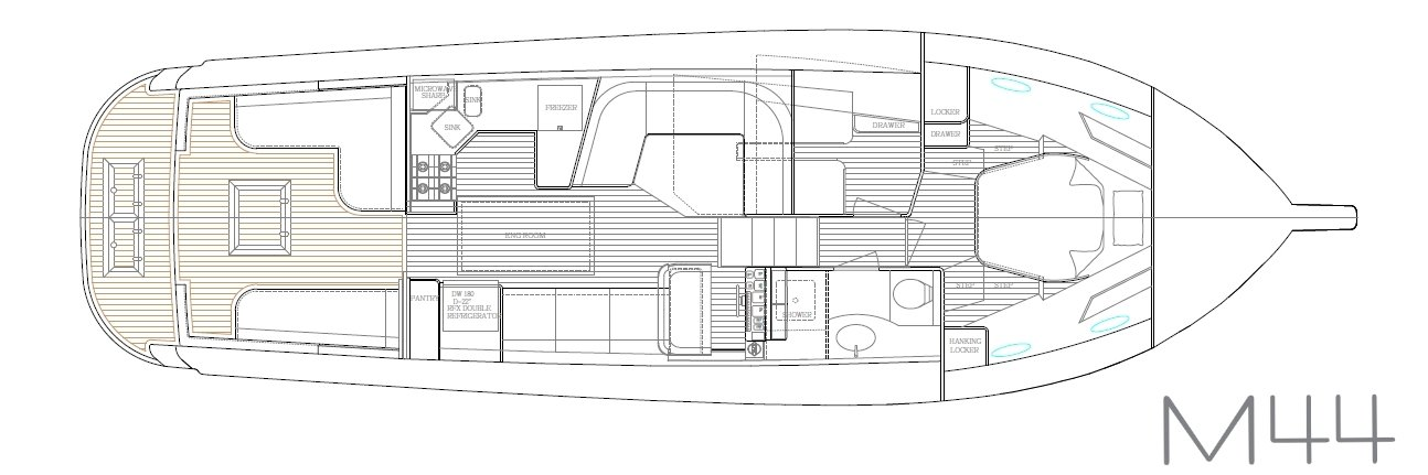 Hylas M44 interior layout