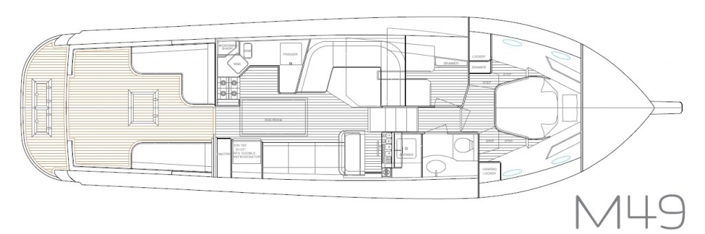 Hylas M49 interior plan