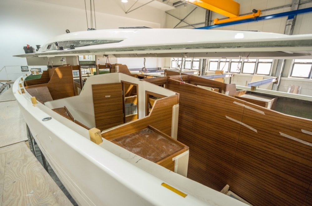 More Boats 55 hull with interior and deck