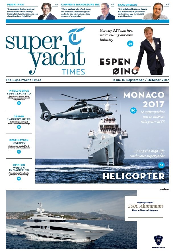 SuperYacht Times Sept/Oct 2017 Vismara Review