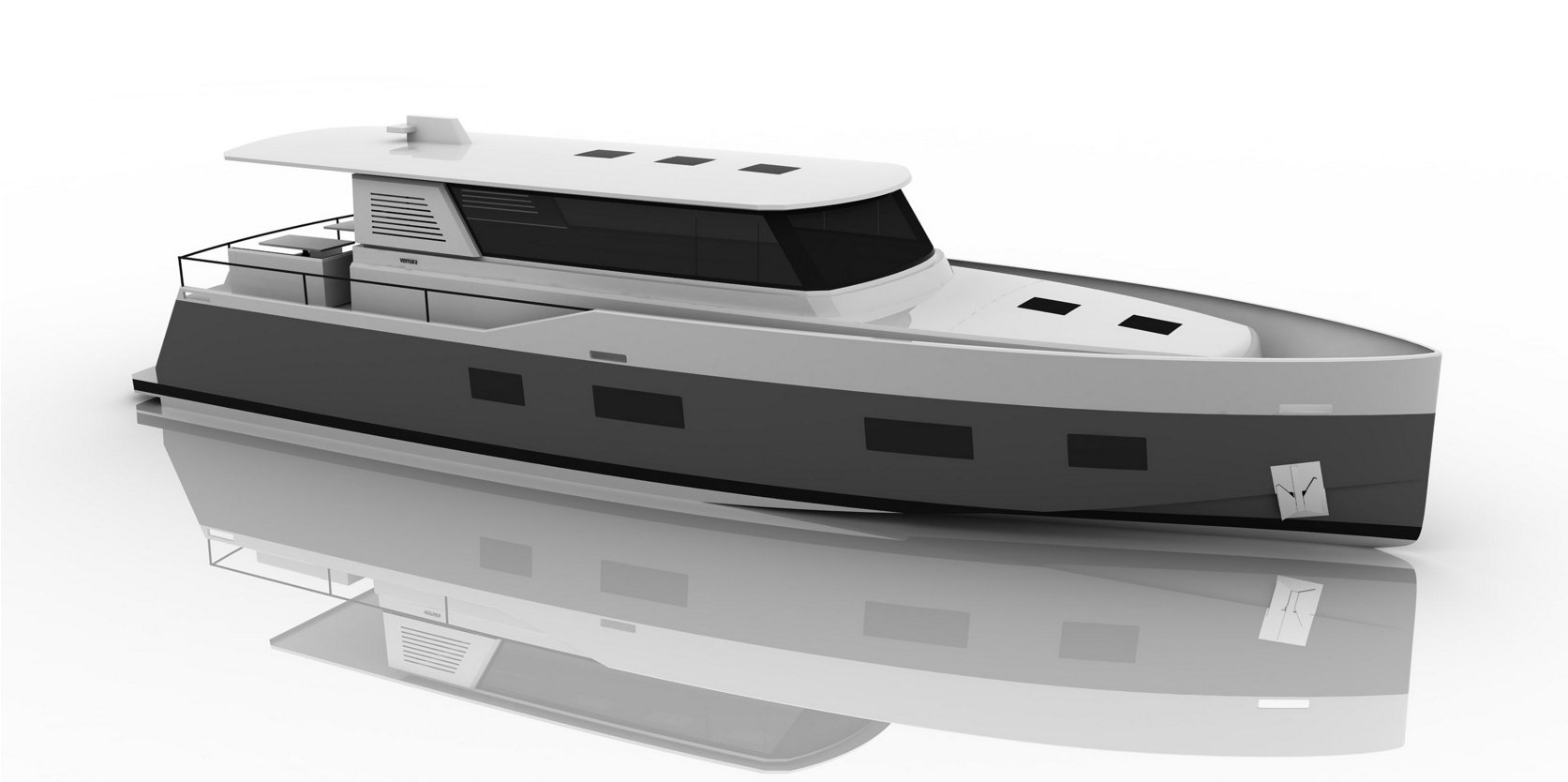 Vismara MY54 starboard side rendering