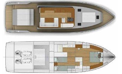 Vismara MY54 deck and interior layout