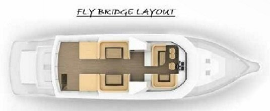 Vismara MY90 Navetta flybridge layout
