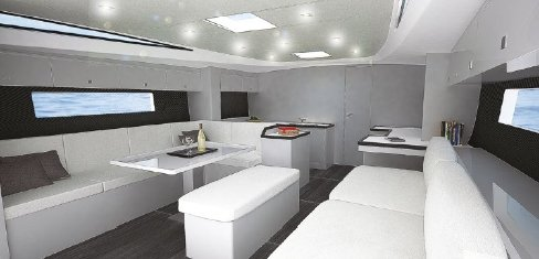 Vismara V62 Mills white painted interior finish