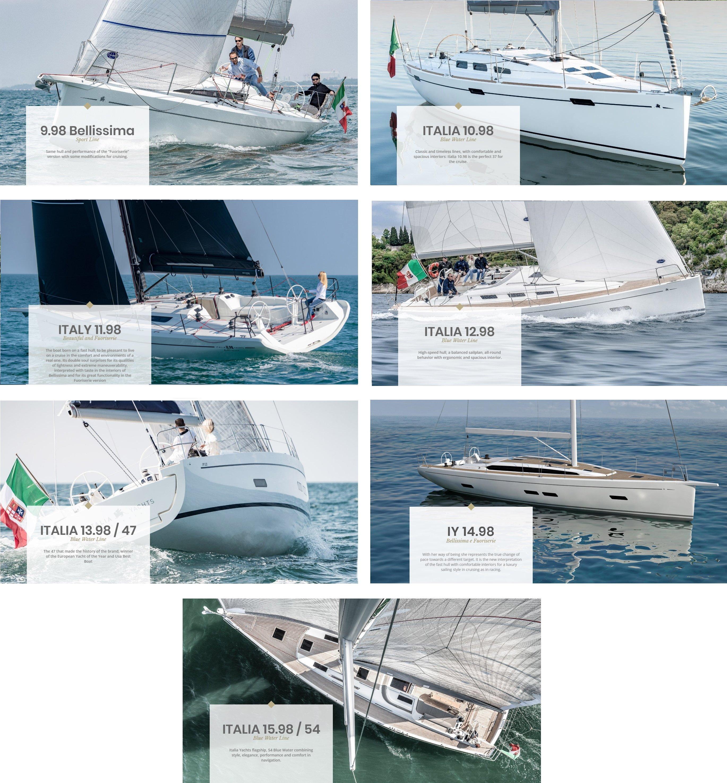 Italia Yachts Bellissima Line range