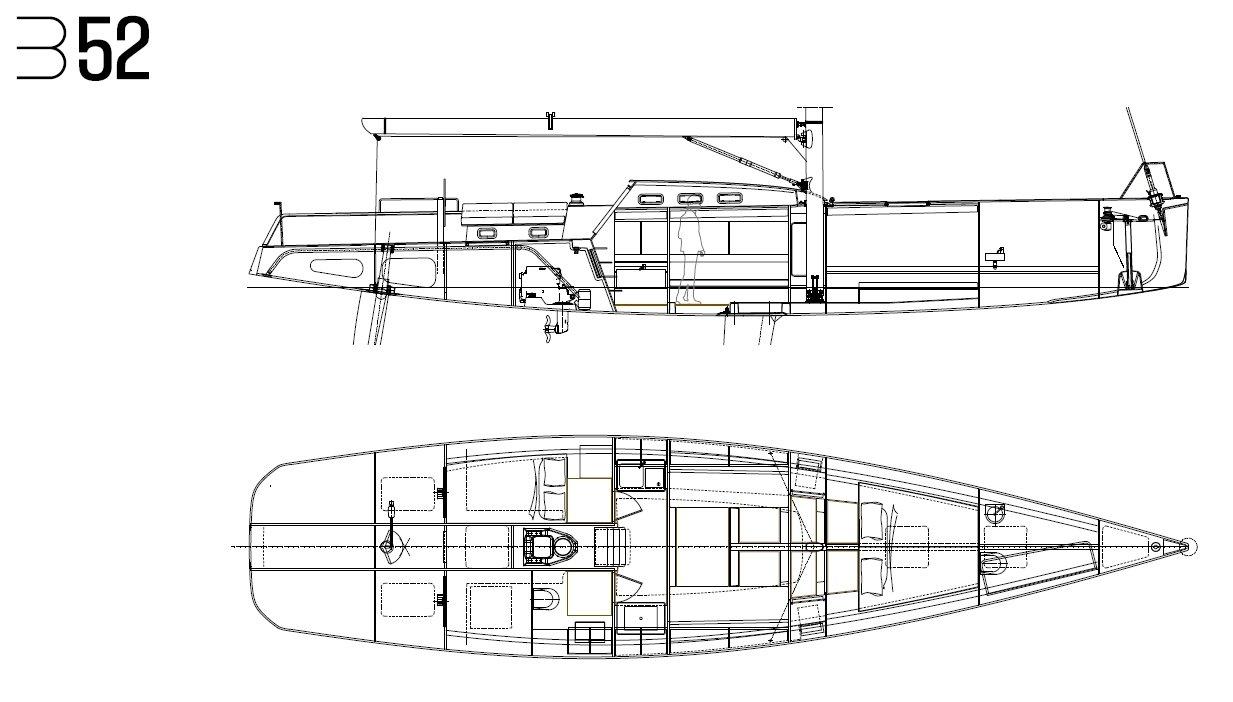 Luca Brenta B52 interior layout