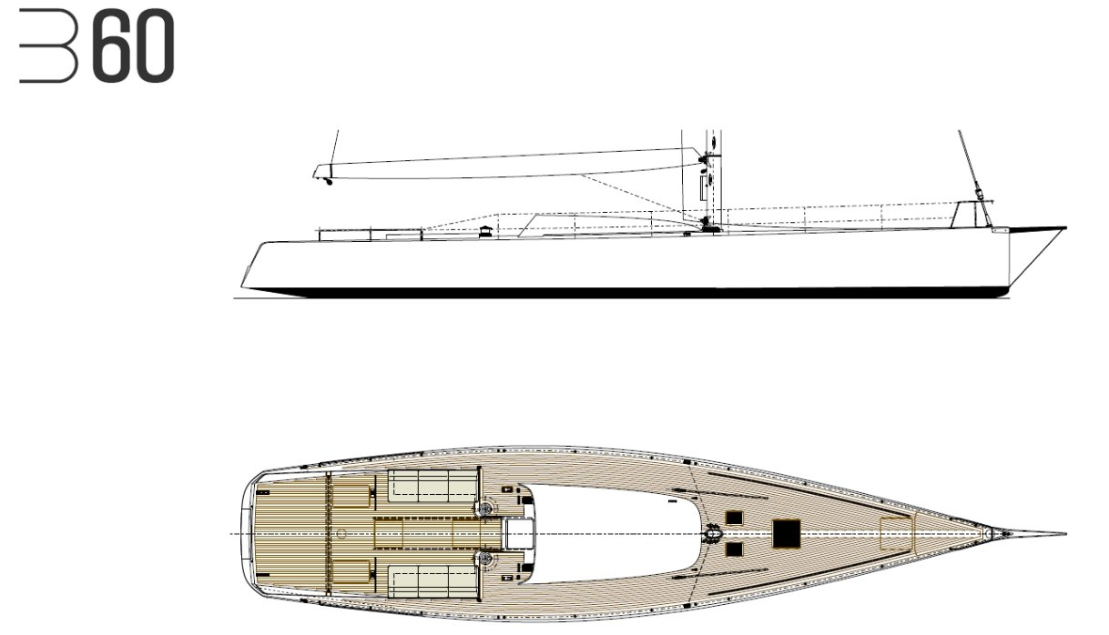 Luca Brenta B60 deck layout
