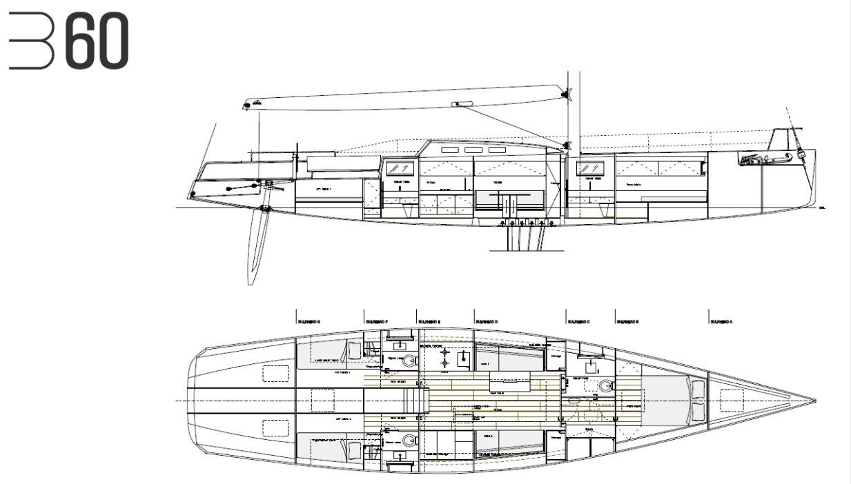 Luca Brenta B60 interior layout
