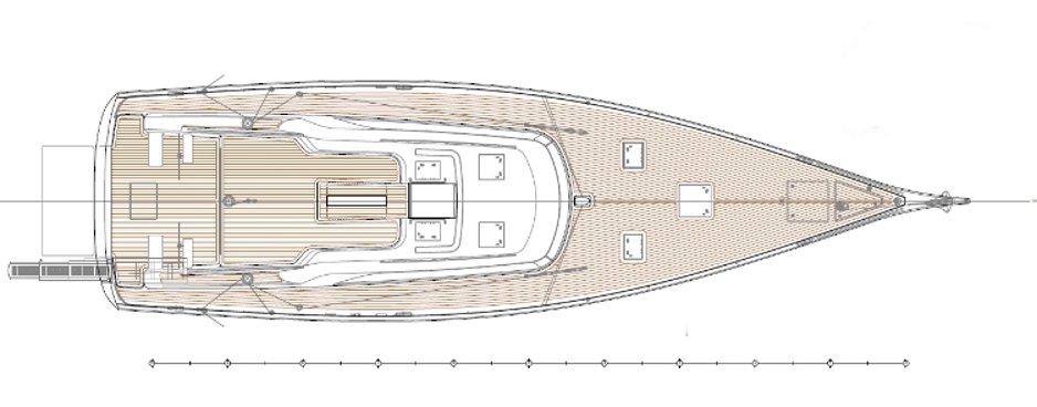 Hylas 60 deck plan | Grabau International