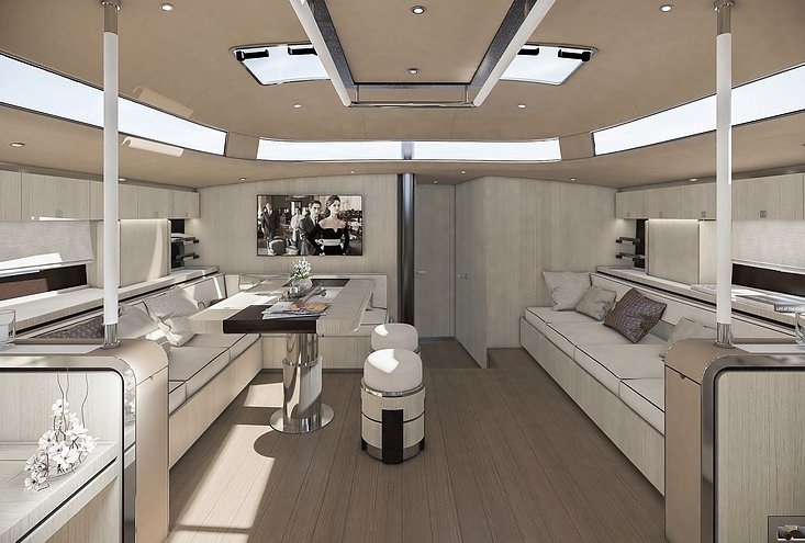 Hylas 60 Oak interior