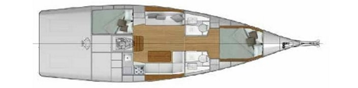 Vismara V40 Day Sailer interior layout