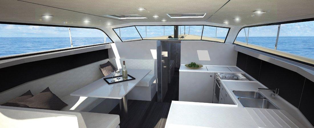 Vismara V52DS interior finishes and layouts