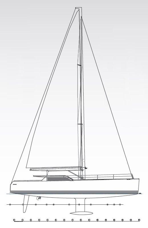 Vismara V52DS Sail Plan