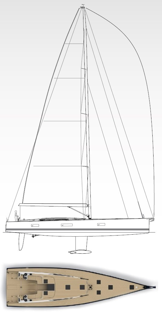 Vismara V62 Mills Sail Plan