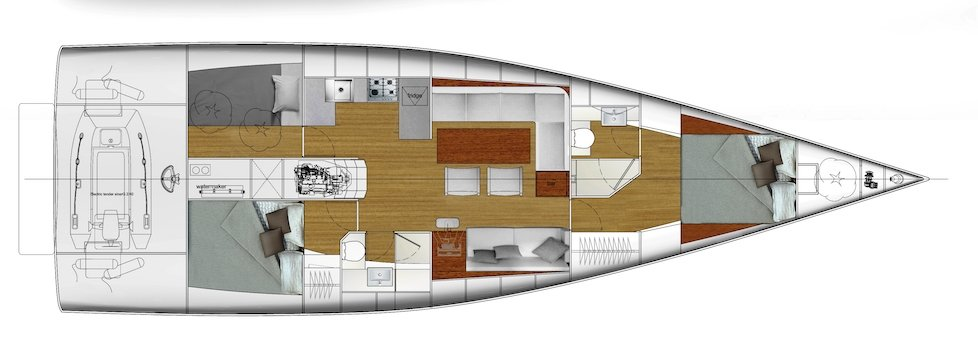 Vismara V50 Mills interior layout plan