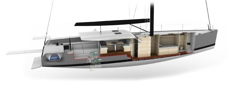 Vismara V52DS Pret a Porter side cutaway drawing