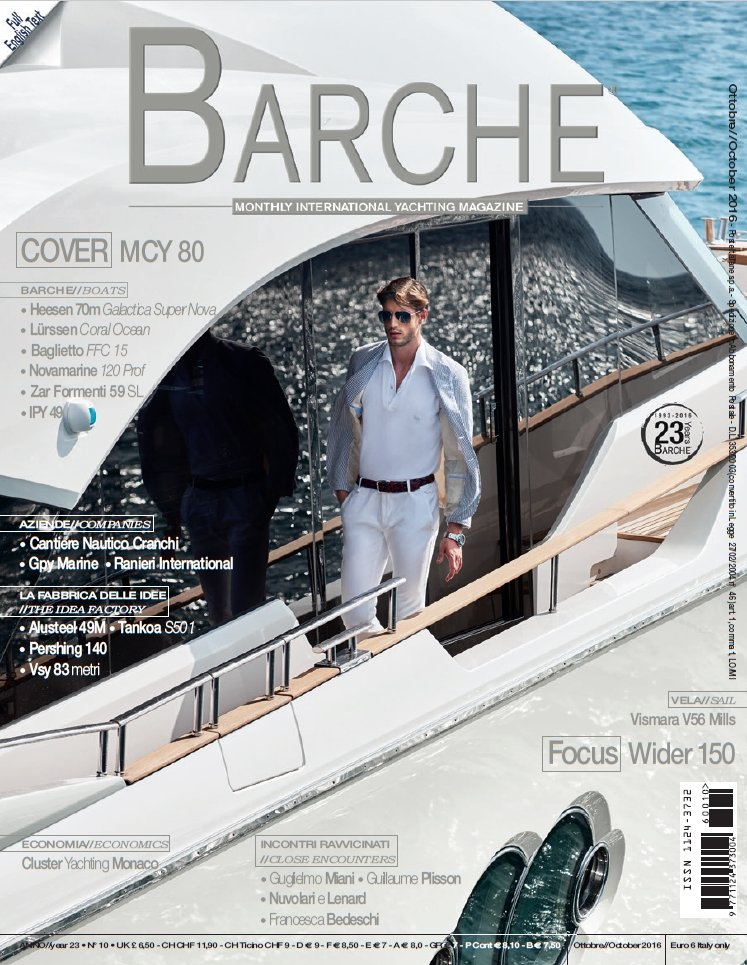 Barche International Yachting Magazine October 2016 review of the Vismara V56 Mills